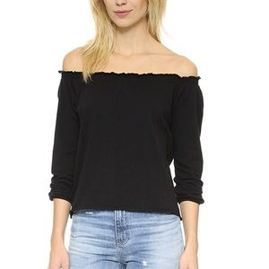 NWT Chaser Off Shoulder Cotton Peasant Blouse